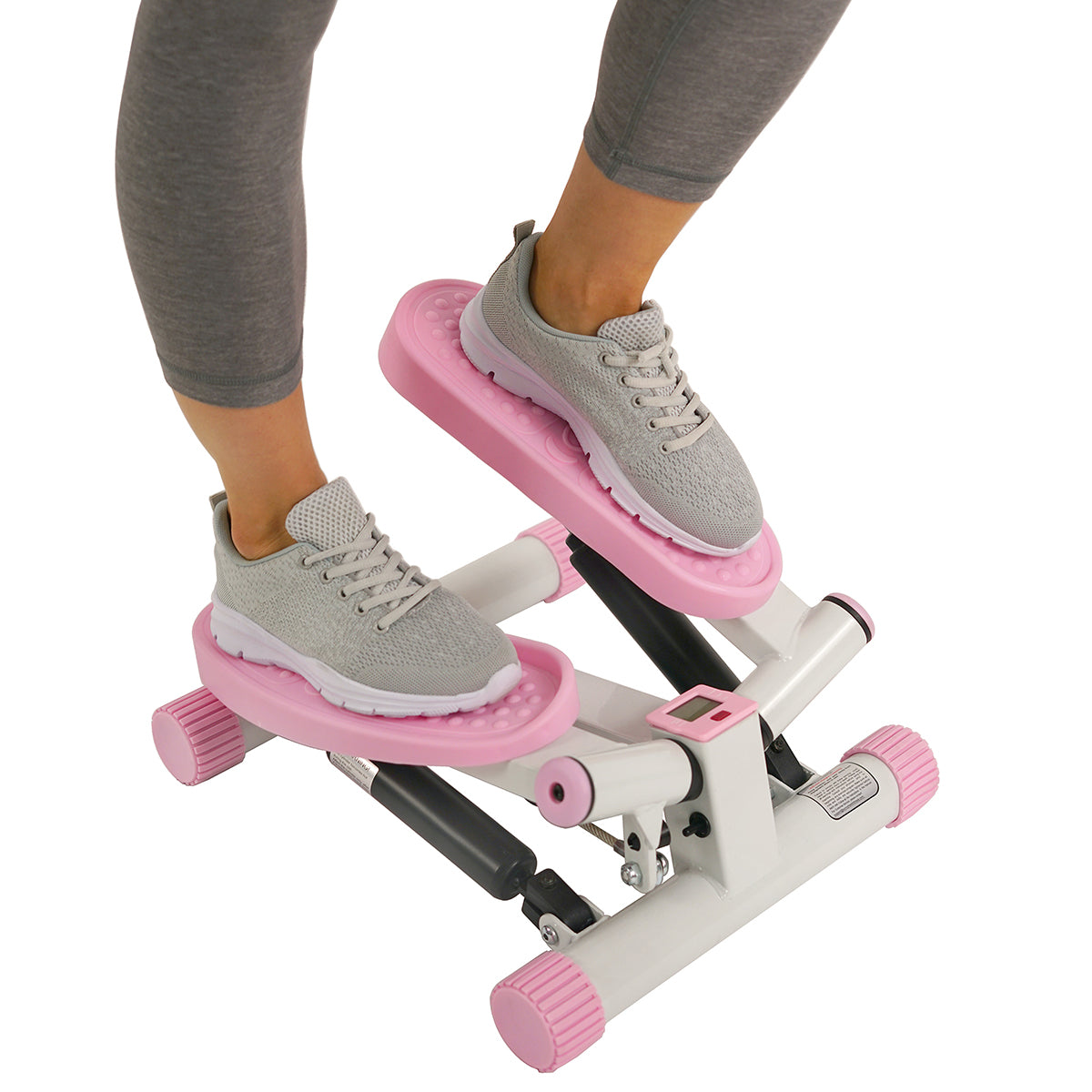 sunny-health-fitness-steppers-pink-adjustable-twist-stepper-machine-LCD-monitor-P8000-adjustable