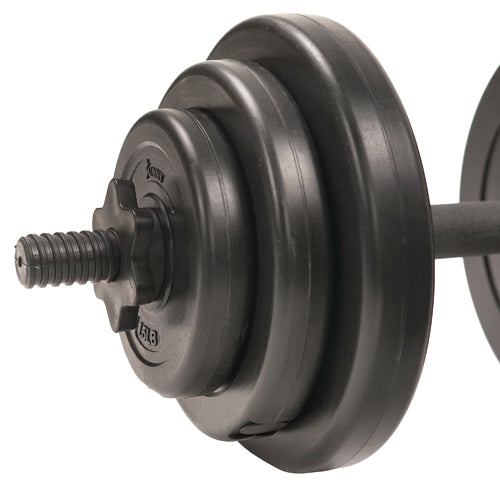 sunny-health-fitness-strength-40-lb-vinyl-dumbbell-set-No.087-vinylcoated