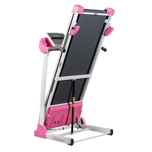 sunny-health-fitness-treadmills-pink-treadmill-manual-incline-LCD-display-P8700-foldable