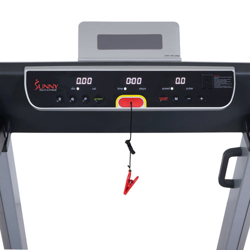 sunny-health-fitness-treadmills-running-treadmill-20-wide-belt-flat-folding-low-pro-portability-speakers-USB-SF-T7718-monitor