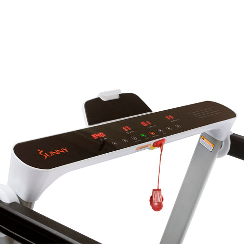 sunny-health-fitness-treadmills-slim-easy-assembly-treadmill-SF-T7946-monitor