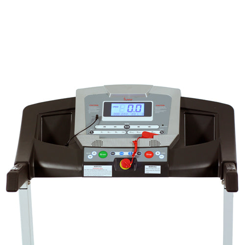 sunny-health-fitness-treadmills-smart-treadmill-auto-incline-sound-system-bluetooth-phone-function-SF-T7515-monitor