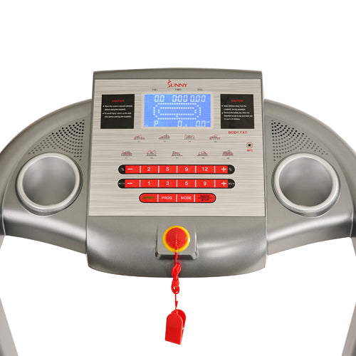 sunny-health-fitness-treadmills-treadmill-high-weight-capacity-auto-incline-MP3-body-fat-function-SF-T7873-monitor