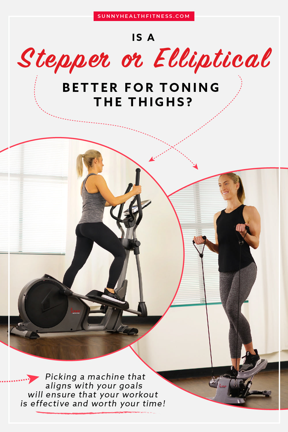 Stepper or Elliptical for Toning the Thighs Infographic