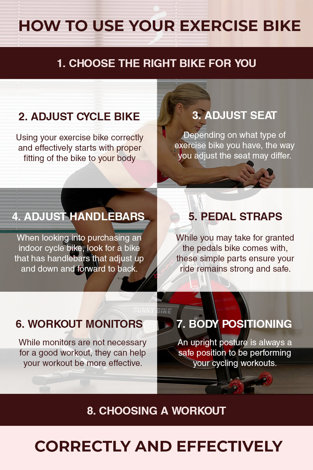 how to use exercise bike infographic