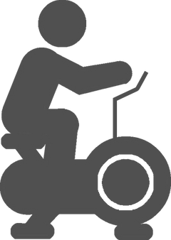 exercise bike riding icon