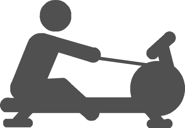 rowing machine exercise icon