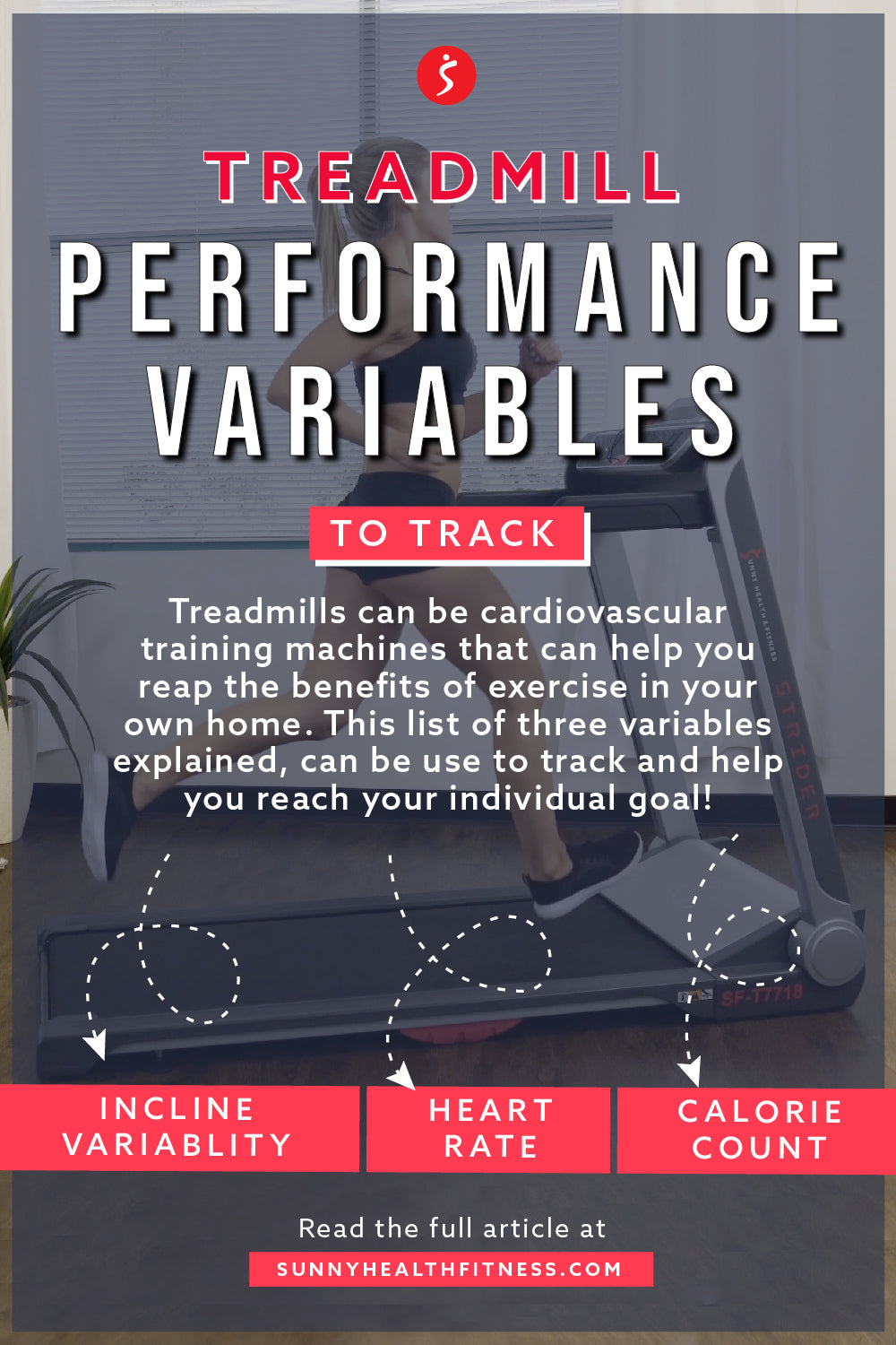 Workout Variables To Track Treadmill Edition Infographic