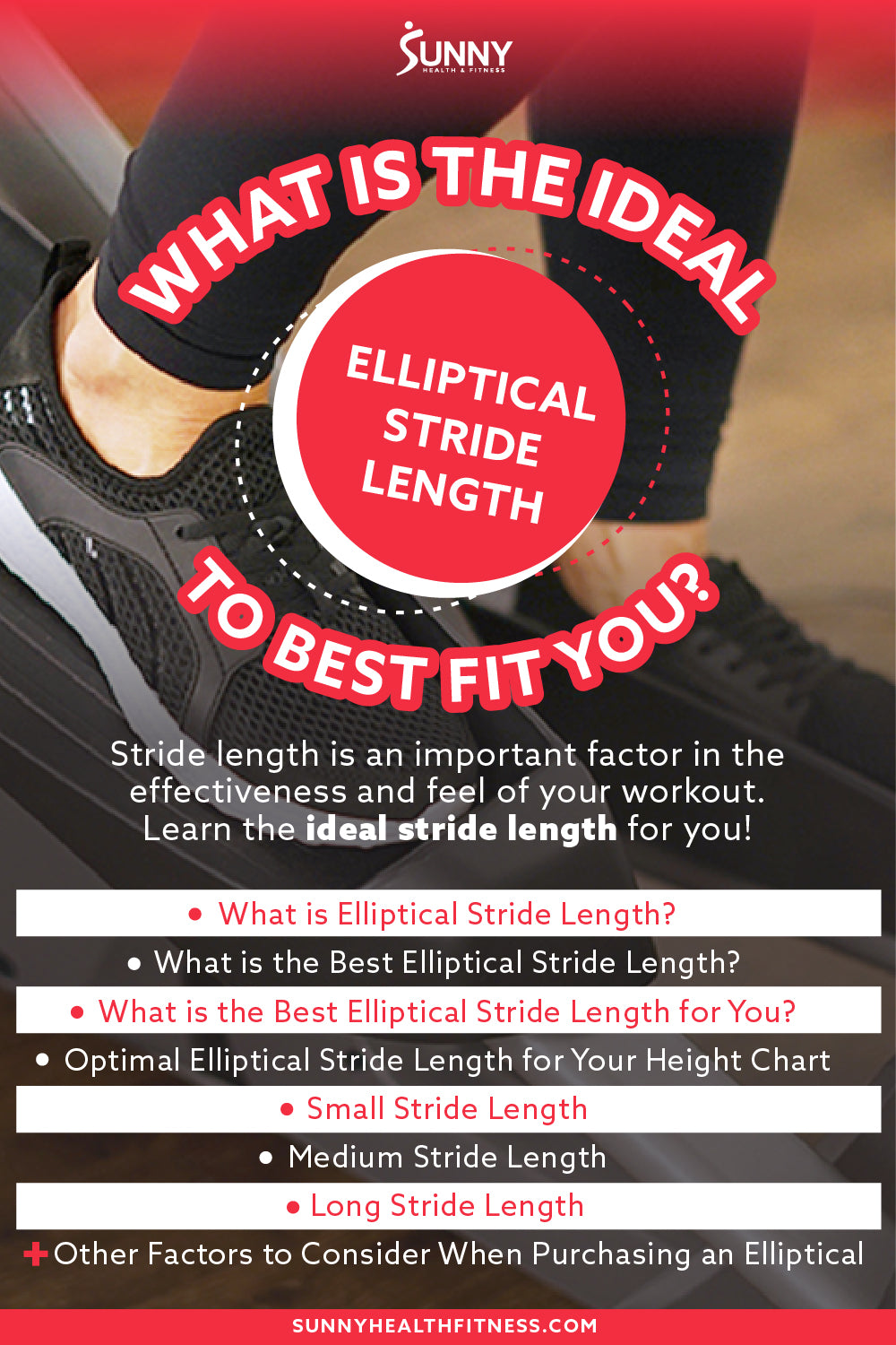 How To Choose The Best Fitting Elliptical Stride Length Infographics