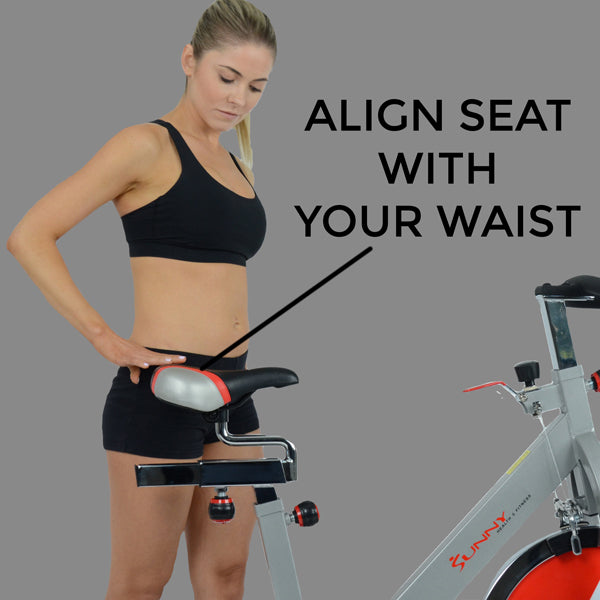 Align Exercise Bike Seat Height to Your Waist Properly