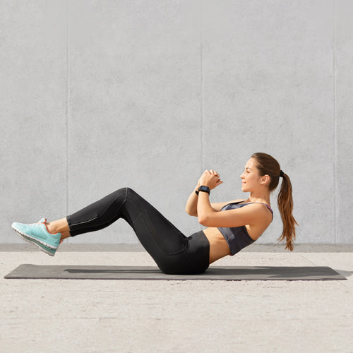a person doing ab workout