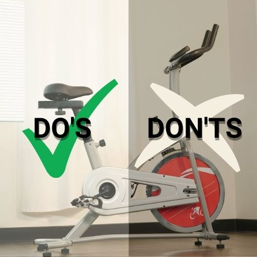 do's and don'ts for indoor cycling workouts