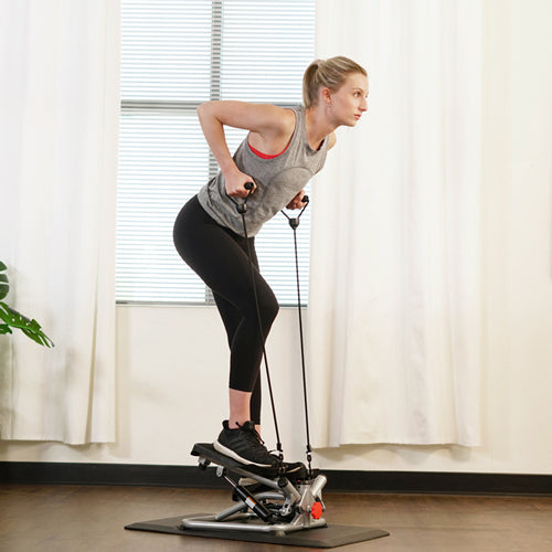 Sunny trainer pedaling mini stepper with bands
