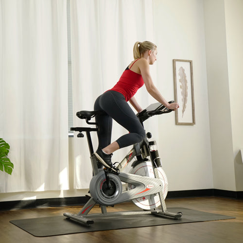 Sunny trainer cycling