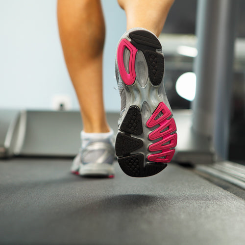 a person walking on the treadmill