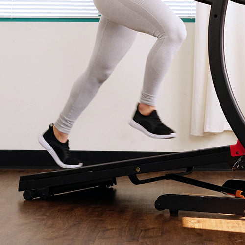 a person running on the treadmill