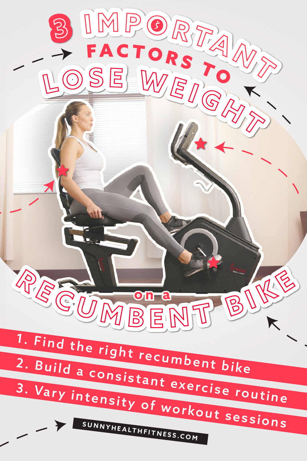 Lose Weight with Recumbent Bike Infographics