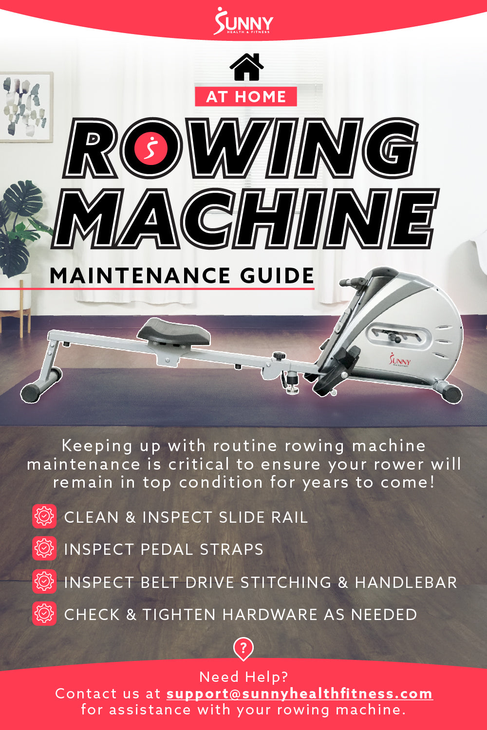 How to Maintain Rowing Machine Infographic
