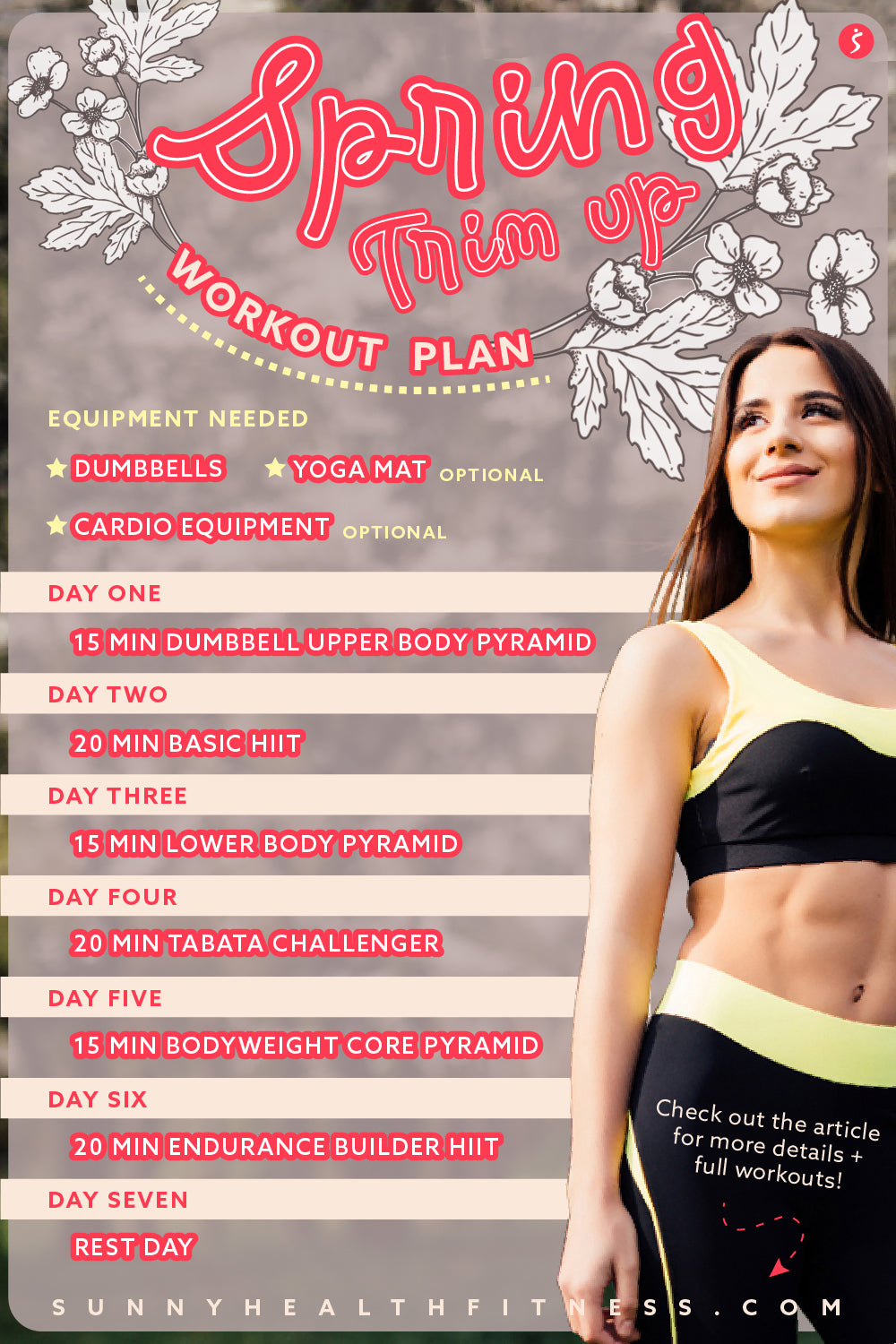 Dumbbell and Yoga Mat Spring Workout Plan