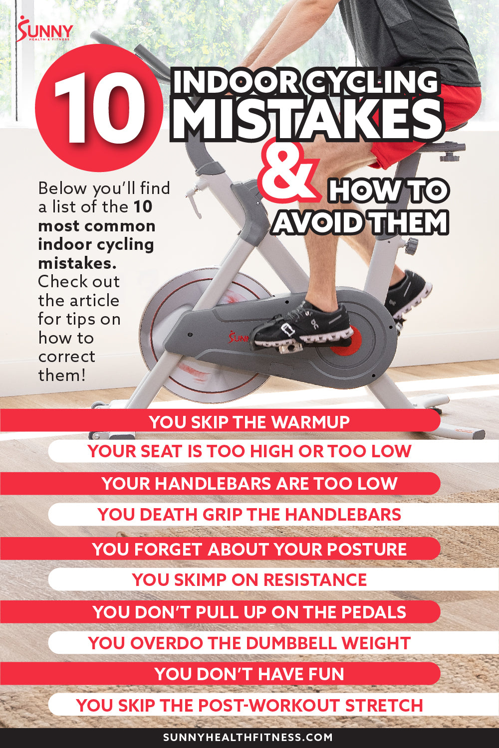 How to Fix Top 10 Indoor Cycling Mistakes