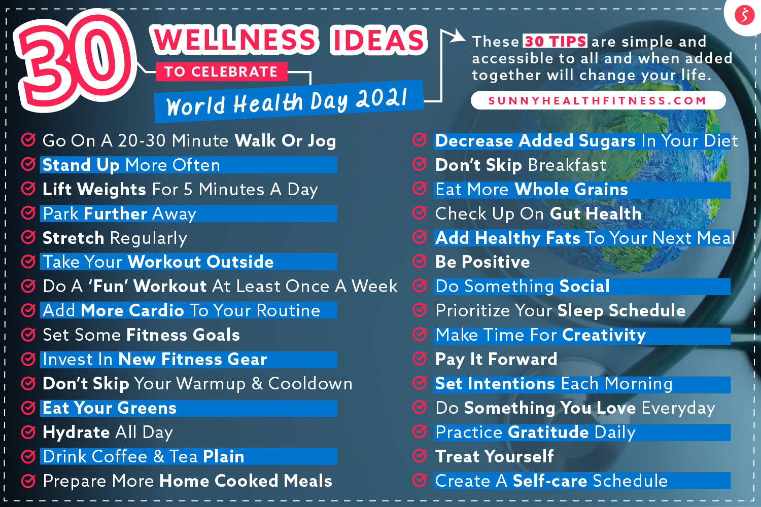 Celebrate World Health Day with Top 30 Healthy Tips