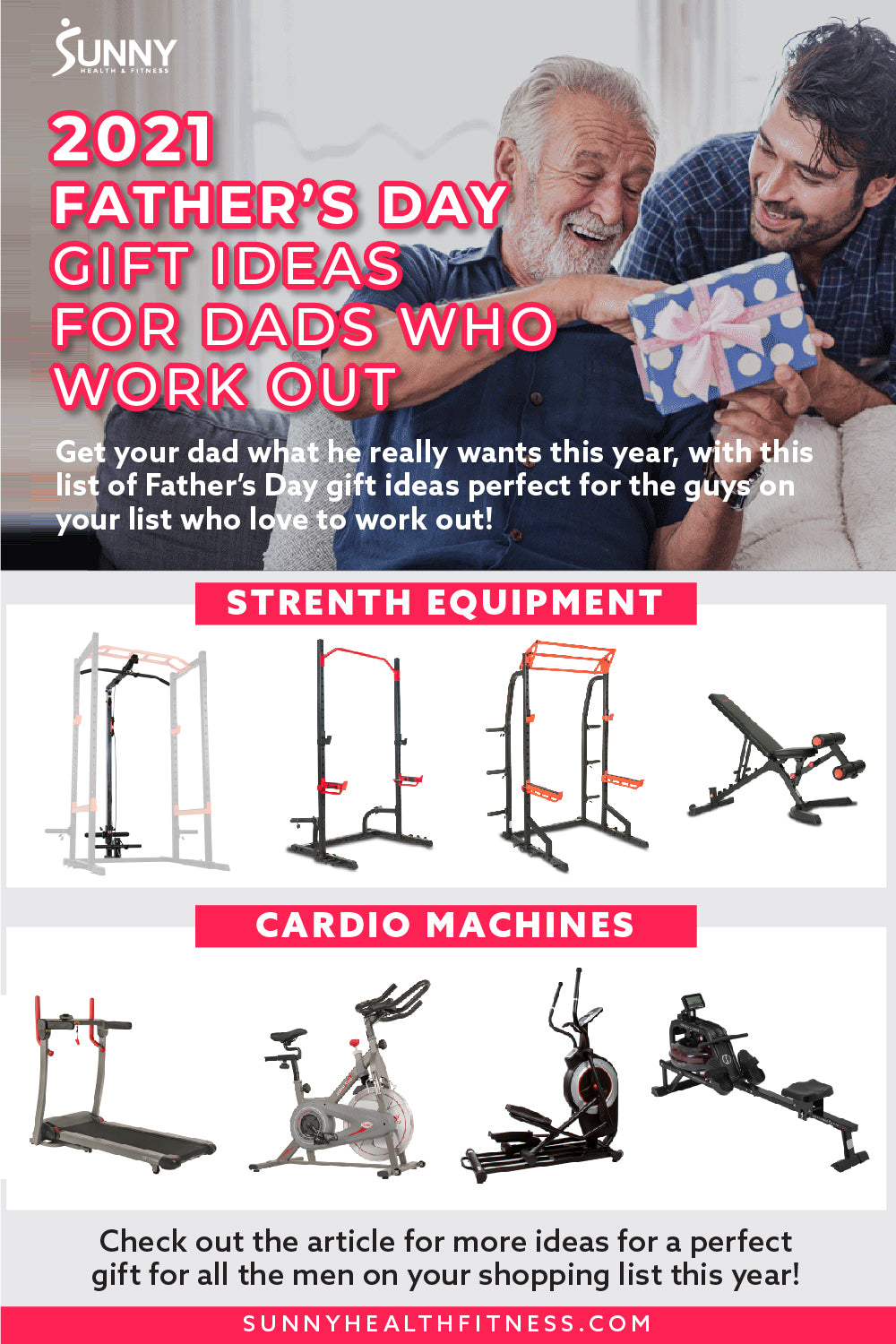The Best Home Gym Cardio Machines and Strength Equipment for 2021 Father's Day Gifts.