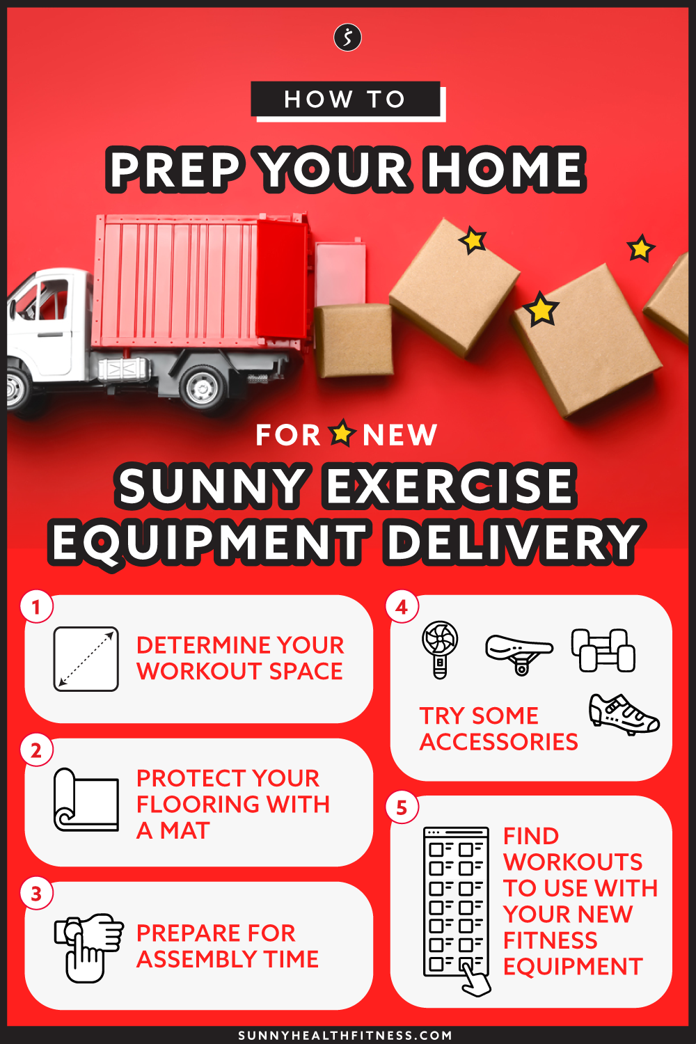 Learn How to Set Up & Prep Your New Sunny Exercise Equipment Delivery