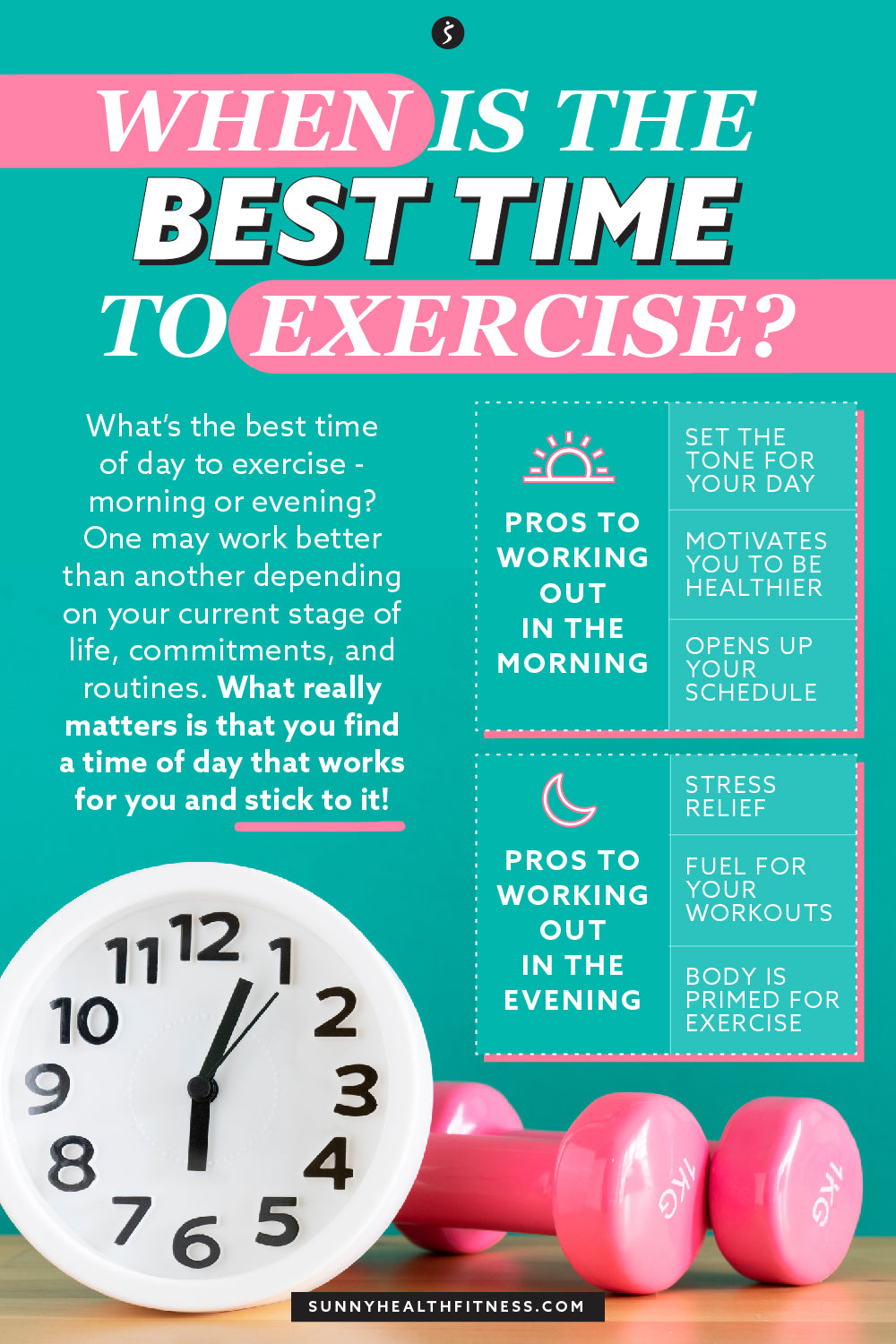 Best Time to Exercise Infographic