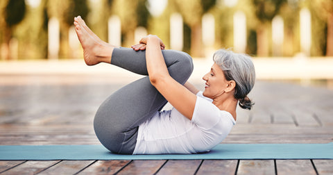 How to Get Lean & Fit with knee-to-chest stretch