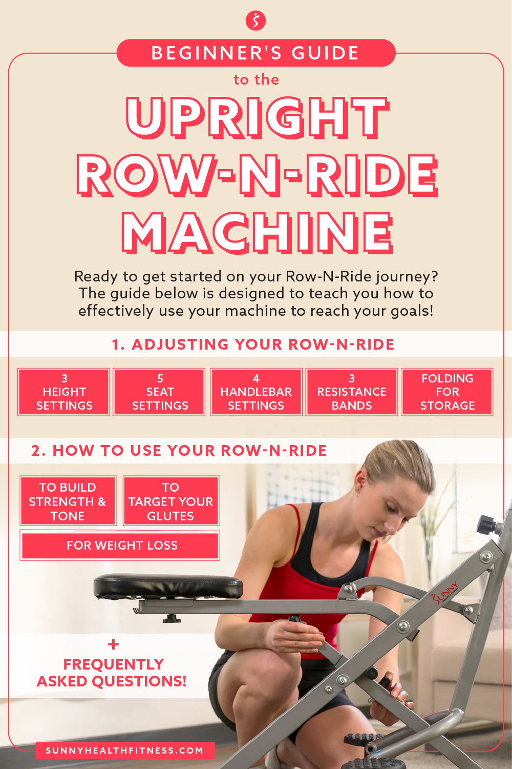Beginner's Guide to the Upright Row-N-Ride Machine Infographic