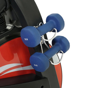 sunny-health-fitness-bikes-evolution-pro-II-magnetic-indoor-cycling-exercise-bike-device-mount-performance-display-SF-B1986-dumbbellholder