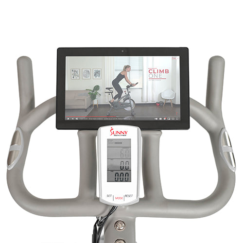 sunny-health-fitness-bikes-magnetic-indoor-cycling-bike-SF-B1876-device-holder