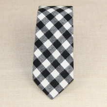 Load image into Gallery viewer, Black Gingham Tie
