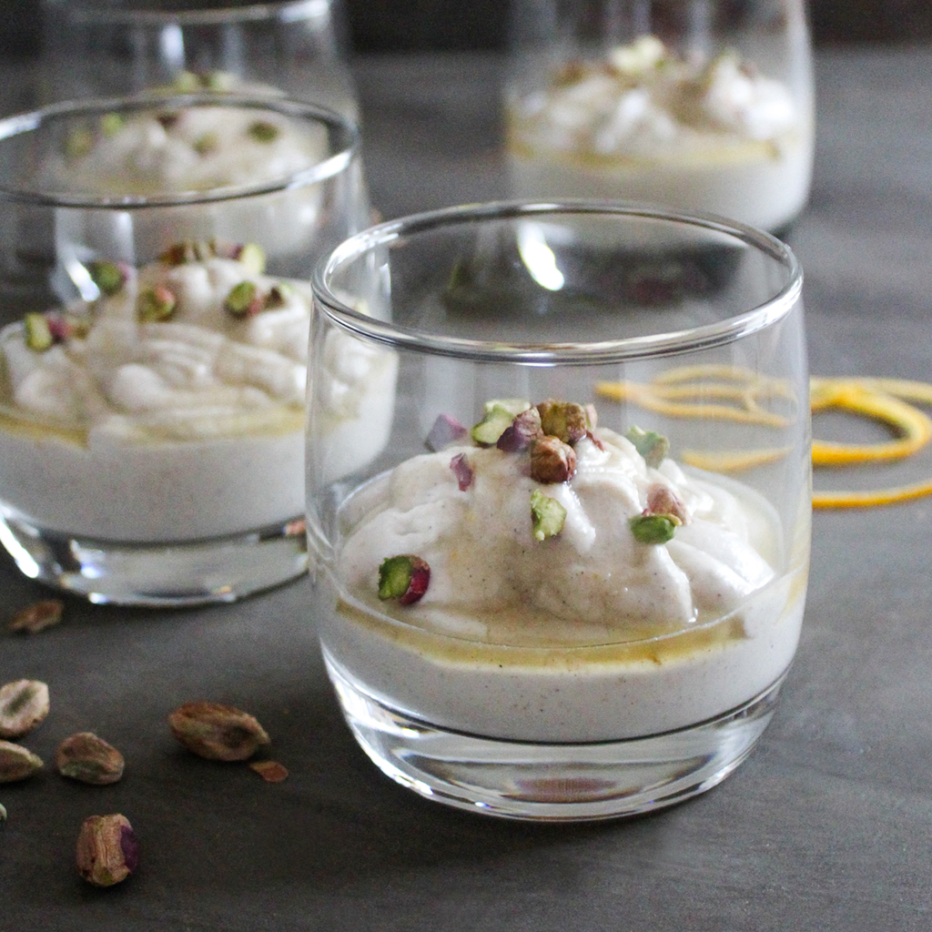 Orange & cardamom spice yogurt (vegan & paleo option)