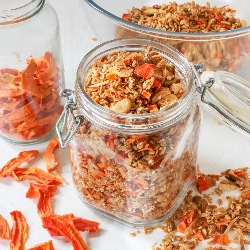 How to dehydrate papaya + gut loving papaya granola recipe