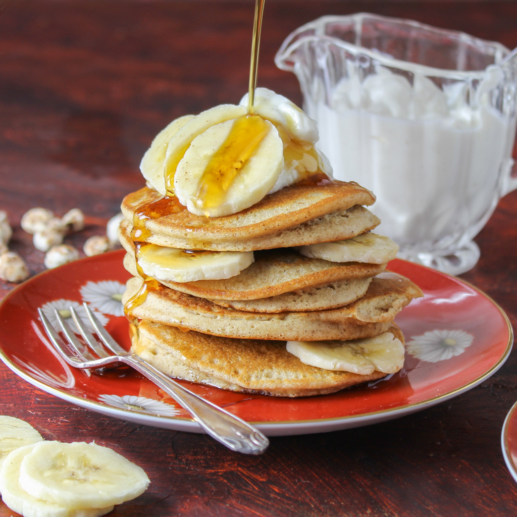 Maple & cinnamon Tigernut blender pancakes