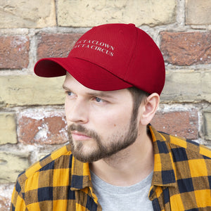 """ELECT A CLOWN EXPECT A CIRCUS"" Unisex Twill Hat"