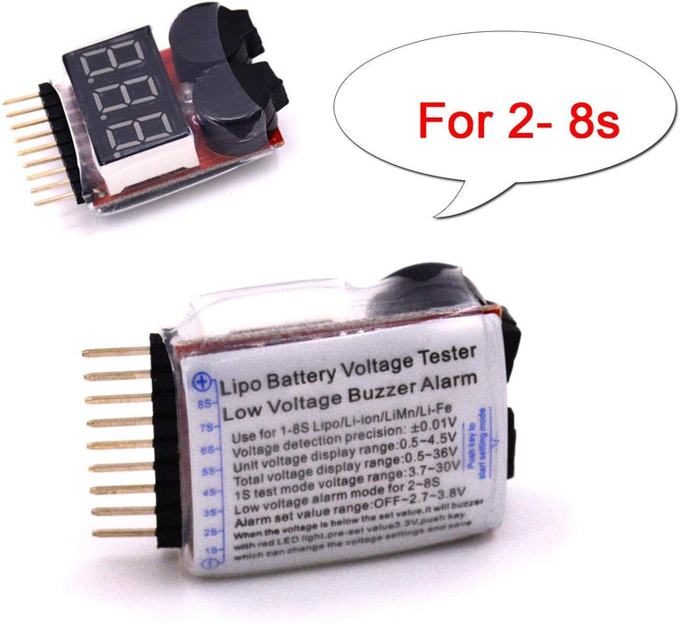 2 in 1 RC 2-8s Battery Checker