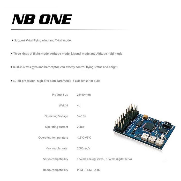 NB ONE+ Flight Controller Built-in 6-Axis Gyro