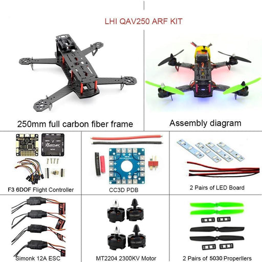 LHI 250 Race Quad ARF 250mm Carbon Fiber Frame Kit