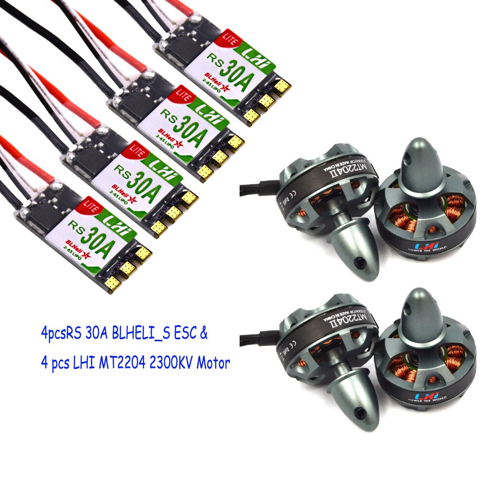4 x MT2204 2300kv Brushless Motor + 4 x RS30A ESCs