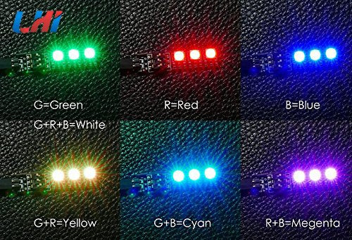 4 PCS RGB 5050 12V LED