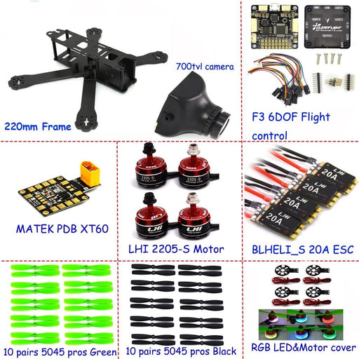 220mm FPV drone quadcopter