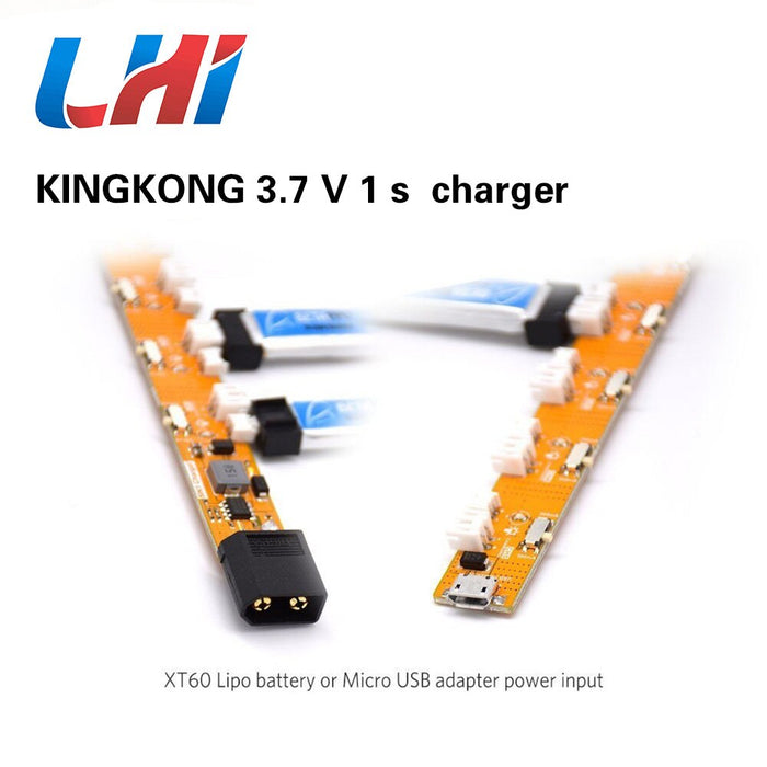 1S Lipo Battery Charger with JST-PH 2.0 and Micro JST