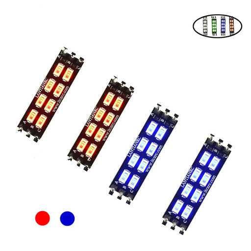 4PCS Double row FPV Race LED
