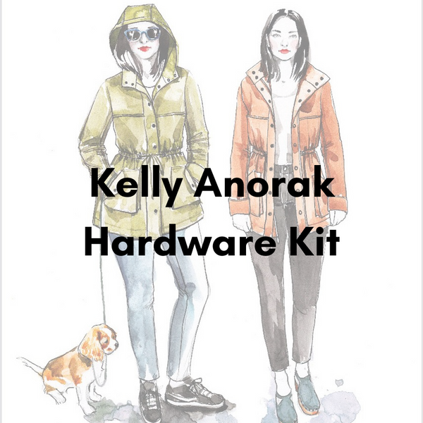 Closet Core Patterns Kelly Anorak Hardware Kit - Antique Gold