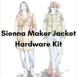 Closet Core Patterns Sienna Maker Jacket (View C) Hardware Kit - Antique Gold