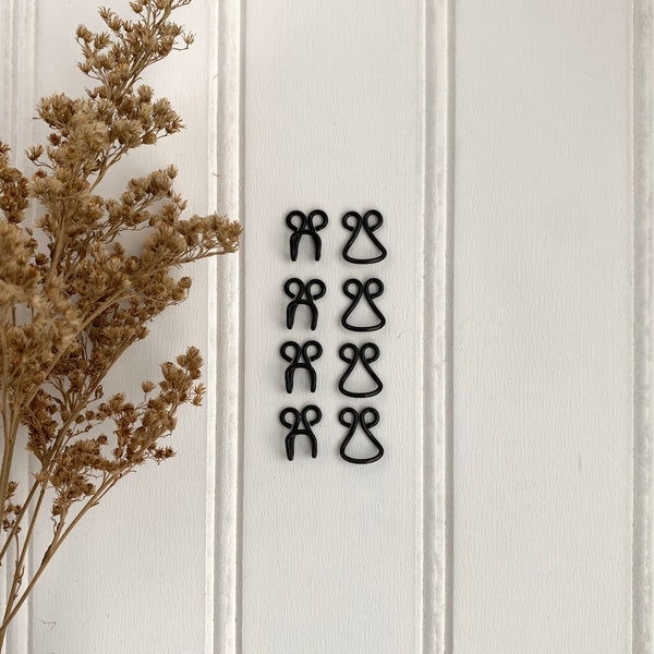 Coat Hooks & Eyes - Black