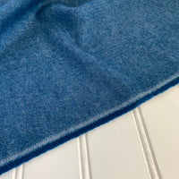 Organic Brushed Cotton Yak Wool Twill Flannel - Blueberry