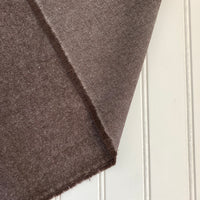 Organic Brushed Cotton Yak Wool Twill Flannel - Cocoa